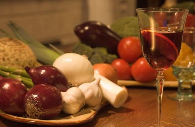 mediterrán diéta vörösbor