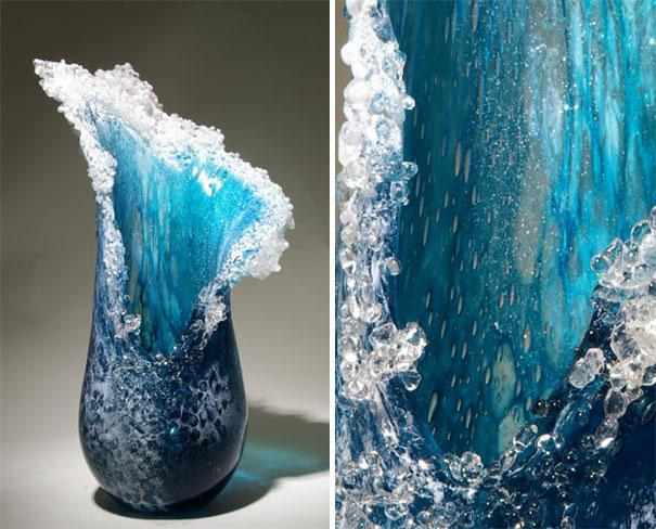 Oceán váza | Fotó: glass-art.com
